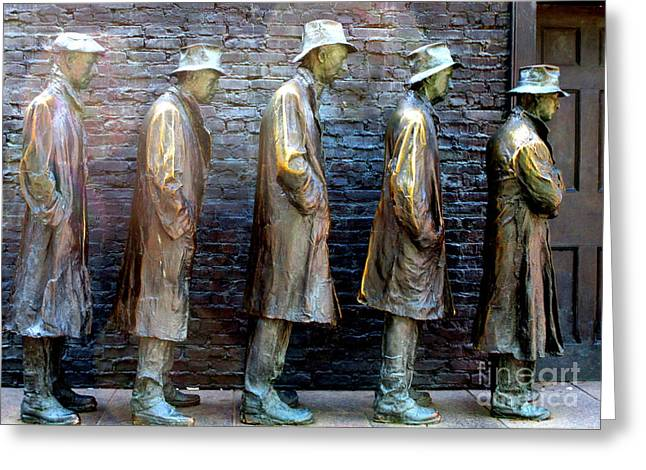 Fdr Memorial 4 Greeting Card by Randall Weidner