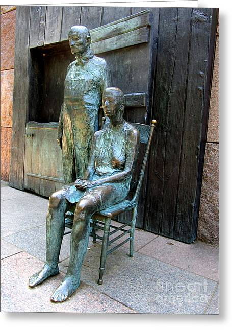 Fdr Memorial 9 Greeting Card by Randall Weidner