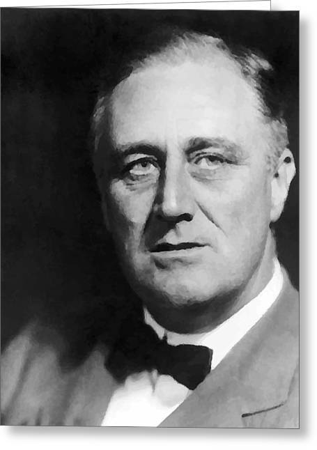 Depression Greeting Cards - Fdr Greeting Card by War Is Hell Store