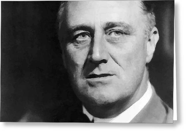 Franklin Roosevelt Greeting Cards - Fdr Greeting Card by War Is Hell Store