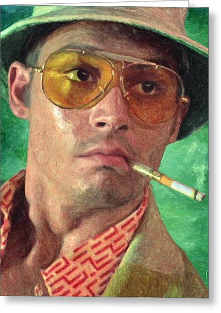 Johnny Depp Poster Greeting Cards - Fear and Loathing Greeting Card by Taylan Soyturk