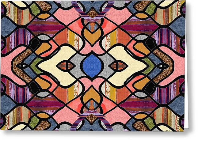 Geometric Design Greeting Cards - Fearless Spirit Greeting Card by Ruth Palmer