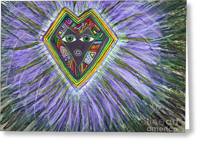 Feather Dancer Greeting Card by Susan Hendrich