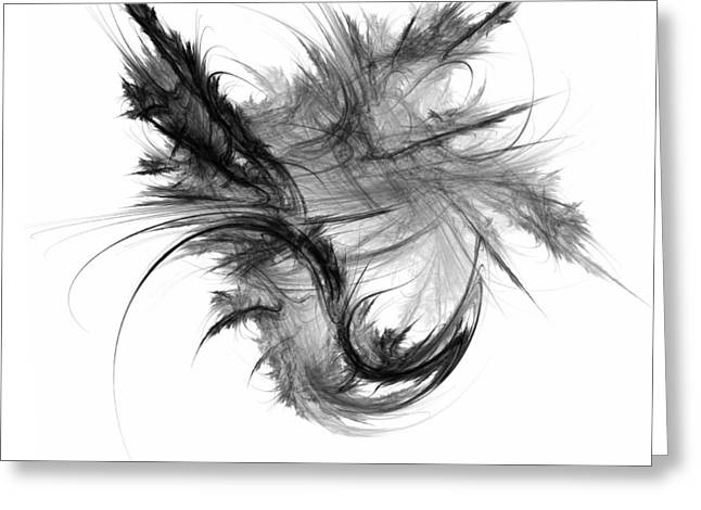 Contrast Digital Greeting Cards - Feathers and Thread Greeting Card by Scott Norris