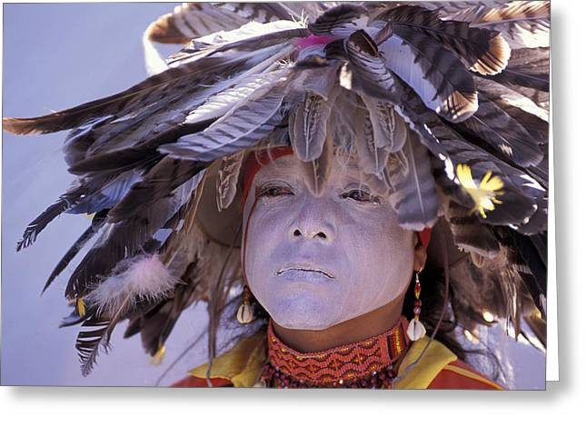 Pow Wow Greeting Cards - Feathers Greeting Card by Christian Heeb