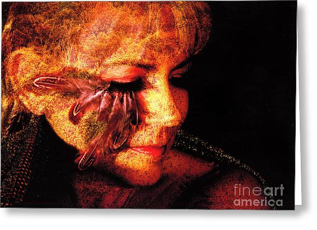 Composite Art Greeting Cards - Feathers of Beauty Greeting Card by Clayton Bruster