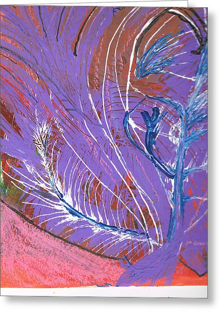 Feathery Fantasy Greeting Card by Anne-Elizabeth Whiteway