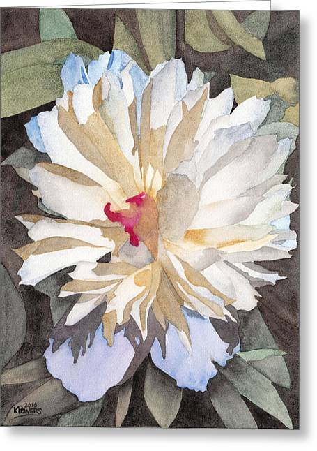 Desperate Greeting Cards - Feathery Flower Greeting Card by Ken Powers
