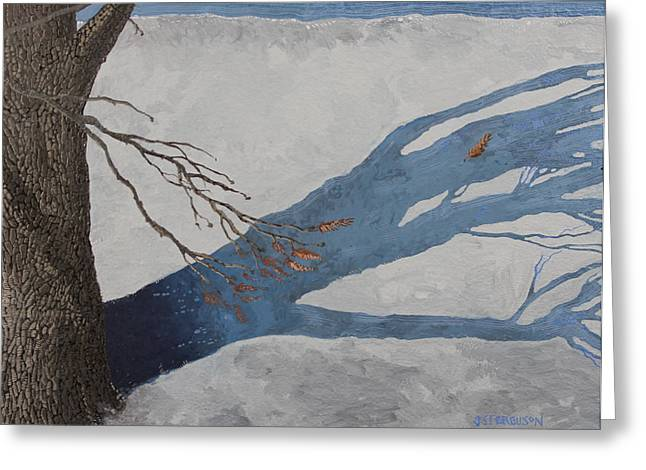 Snowscape Paintings Greeting Cards - February 22nd Greeting Card by J S  Ferguson