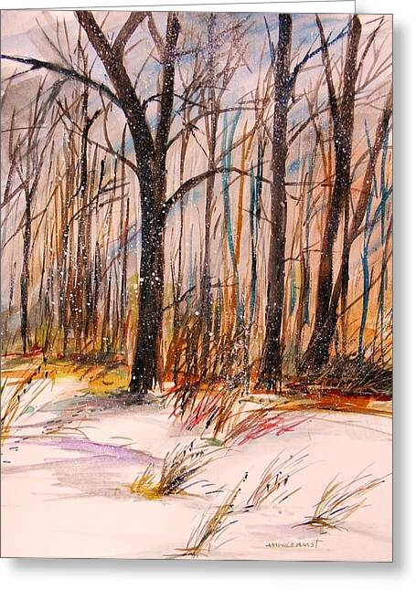 February Greeting Card by John  Williams