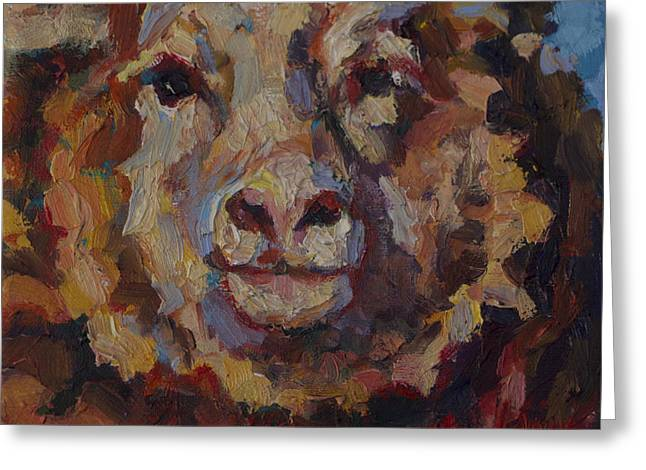 Ovine Greeting Cards - February Greeting Card by Patricia A Griffin