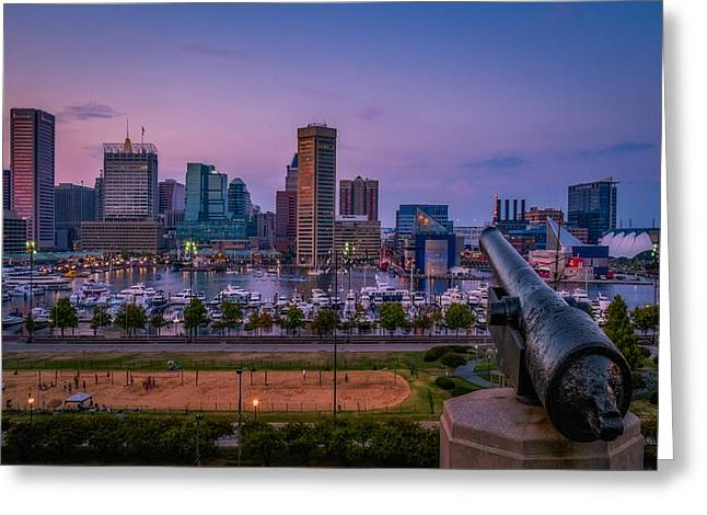Digitally Enhanced Greeting Cards - Federal Hill In Baltimore Maryland Greeting Card by Susan Candelario