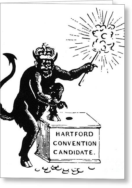 Anti Greeting Cards - Federalist Cartoon, 1816 Greeting Card by Granger