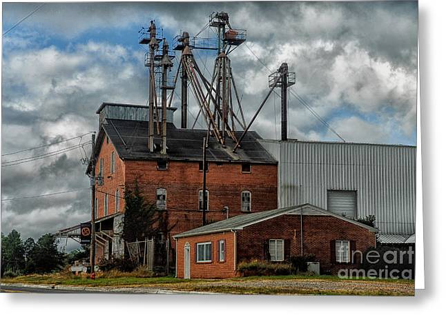Old Feed Mills Photographs Greeting Cards - Feed Mill Greeting Card by Audra  Farnham