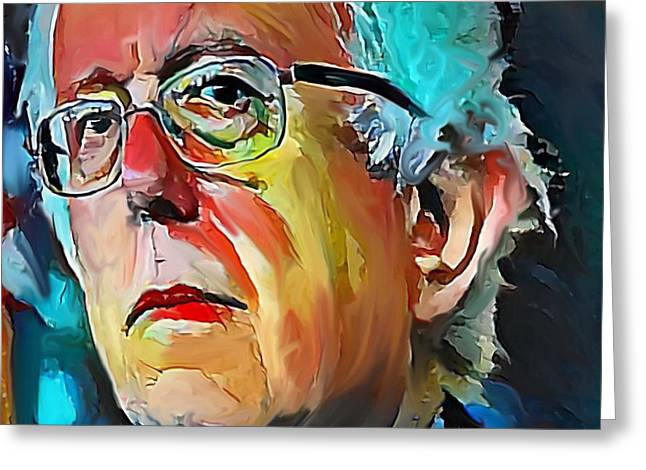 Feel The Bern Greeting Card by Russell Pierce