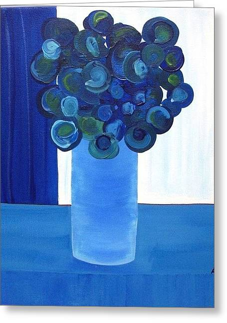 Table Cloth Greeting Cards - Feeling Blue Greeting Card by Ed Akers