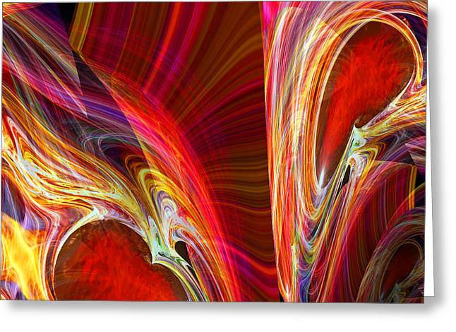 Modern Digital Art Digital Art Greeting Cards - Feeling Closer to You  Greeting Card by Michael Durst