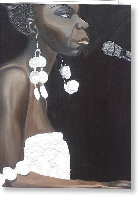 Nina Simone Greeting Cards - Feeling Good Greeting Card by Kimberly Eide