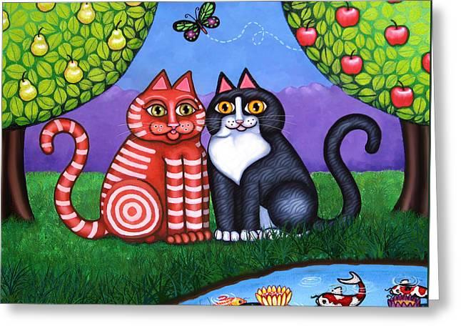 Feeling Koi Greeting Card by Victoria De Almeida