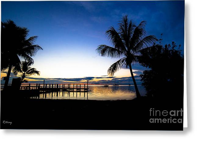 Boats In Water Greeting Cards - Feeling the Tropical Love Greeting Card by Rene Triay Photography