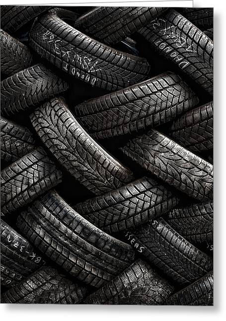 Tire Greeting Cards - Feeling Tired Greeting Card by Piet Flour