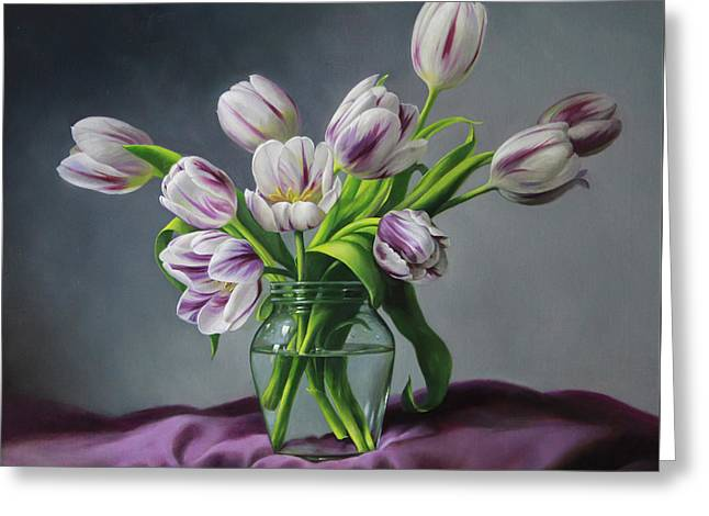 Tulips Greeting Cards - Feelings Greeting Card by Pieter Wagemans