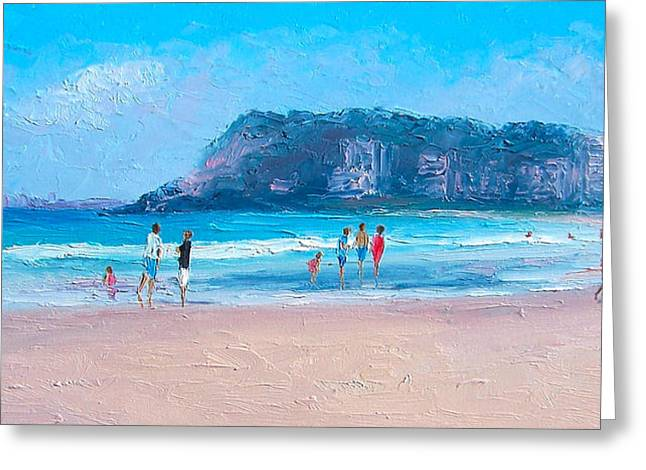 Seaside Greeting Cards - Feels like summer at Burleigh Heads Gold Coast Greeting Card by Jan Matson