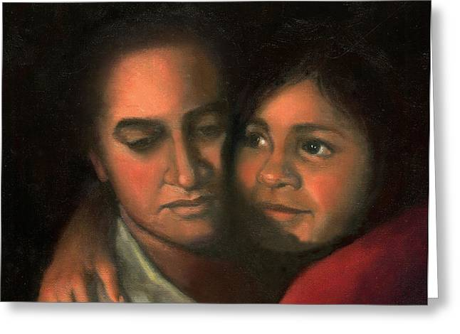 African-americans Greeting Cards - Felicia and Kira Greeting Card by Marlene Book