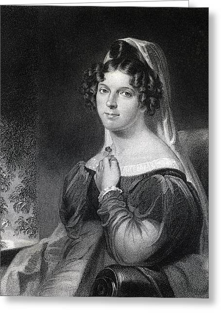 Felicia Dorothea Hemans 1793 To 1835 Greeting Card by Vintage Design Pics