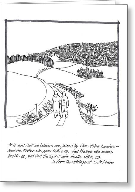 C.s Lewis Greeting Cards - Fellow Travelers Greeting Card by Rich Brumfield