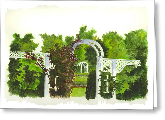 Fellows Riverside Gardens - Mill Creek Park Greeting Card by Michael Vigliotti