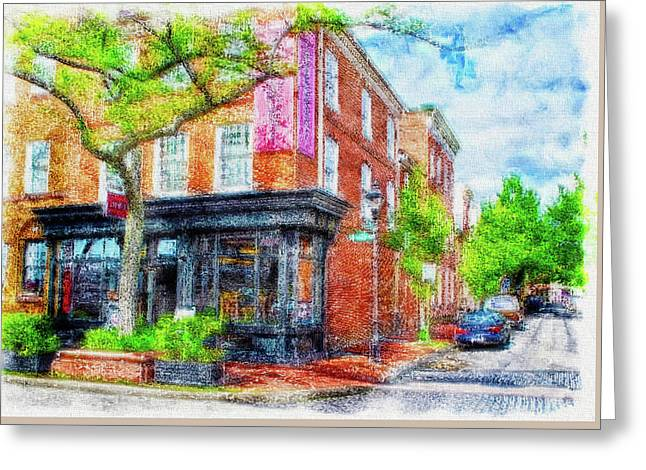 Fells Point Corner, Baltimore, Md.  Greeting Card by Chet  Dembeck