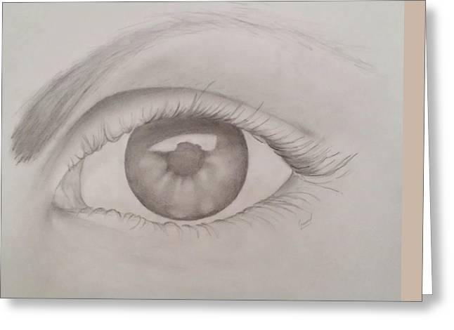 Eyelash Greeting Cards - Female Eye Greeting Card by Greg  Lowman