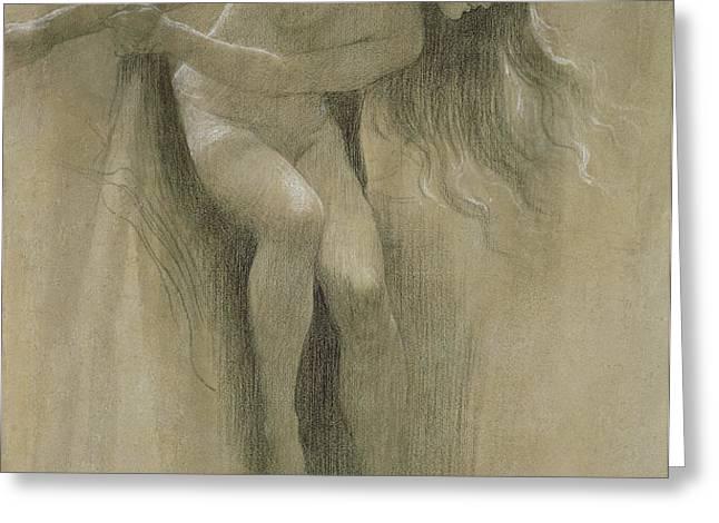 Female Nude Study  Greeting Card by John Robert Dicksee