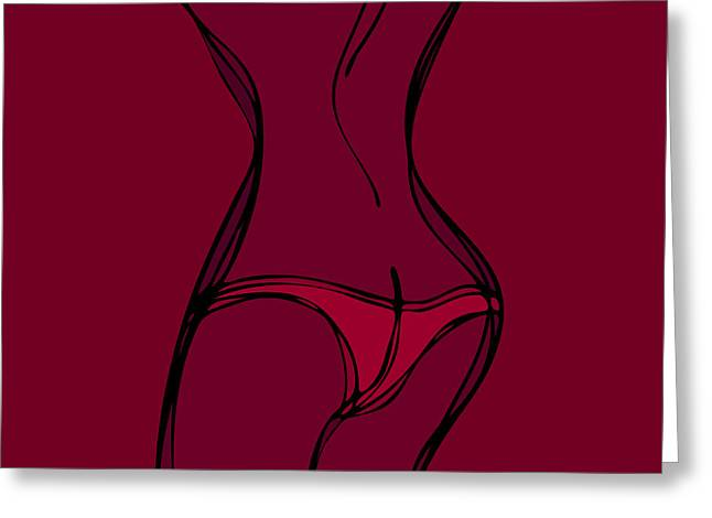 Knickers Greeting Cards - Female Silhouette Greeting Card by Frank Tschakert