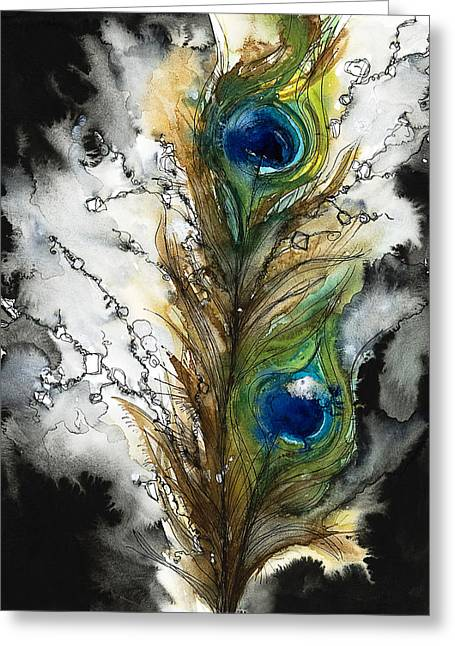 """abstract Art"" Greeting Cards - FeMale Greeting Card by Tara Thelen - Printscapes"