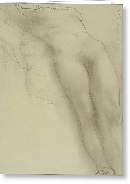 Female Torso Greeting Card by Auguste Rodin