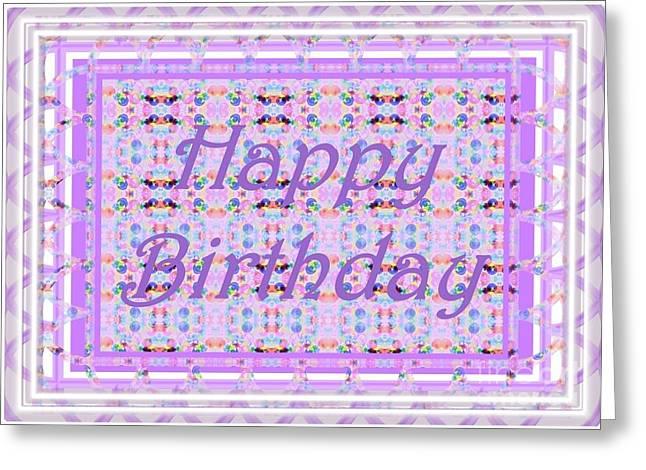 Enhanced Greeting Cards - Feminine lavender birthday card Greeting Card by Barbie Corbett-Newmin