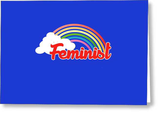 80s Greeting Cards - Feminist rainbow Greeting Card by Bubb Snugg