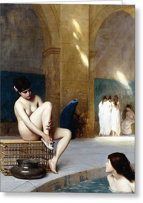 Femme Nue Greeting Card by Jean Leon Gerome