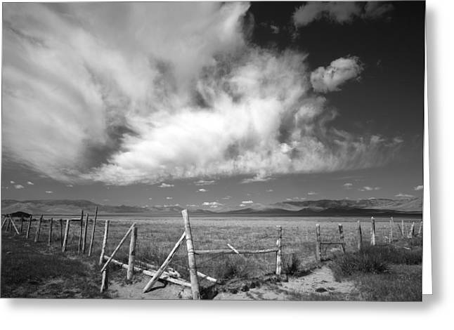 Fence Valley Greeting Card by Leland D Howard