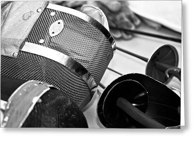 Fencing Greeting Cards - Fencing Equipment Greeting Card by Edward Myers