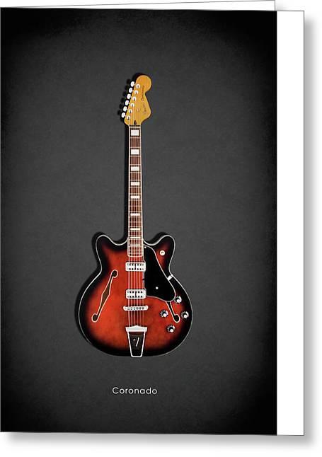 Rock N Roll Photographs Greeting Cards - Fender Coronado Greeting Card by Mark Rogan