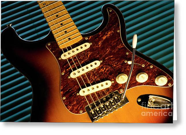 Fender Guitar Greeting Card by Bob Christopher