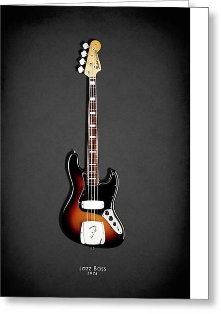 Fender Jazzbass 74 Greeting Card by Mark Rogan