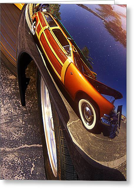 Fender Reflection Greeting Card by Ron Regalado