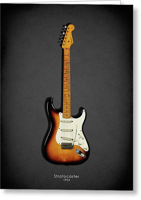 Stratocaster Greeting Cards - Fender Stratocaster 54 Greeting Card by Mark Rogan