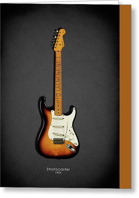 Electric Guitar Greeting Cards - Fender Stratocaster 54 Greeting Card by Mark Rogan