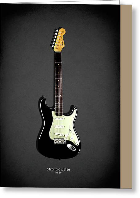 Rock N Roll Photographs Greeting Cards - Fender Stratocaster 59 Greeting Card by Mark Rogan