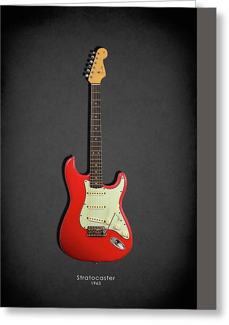 Fender Stratocaster 63 Greeting Card by Mark Rogan